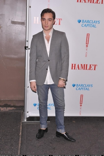 Ed at Opening Night of 'Hamlet""