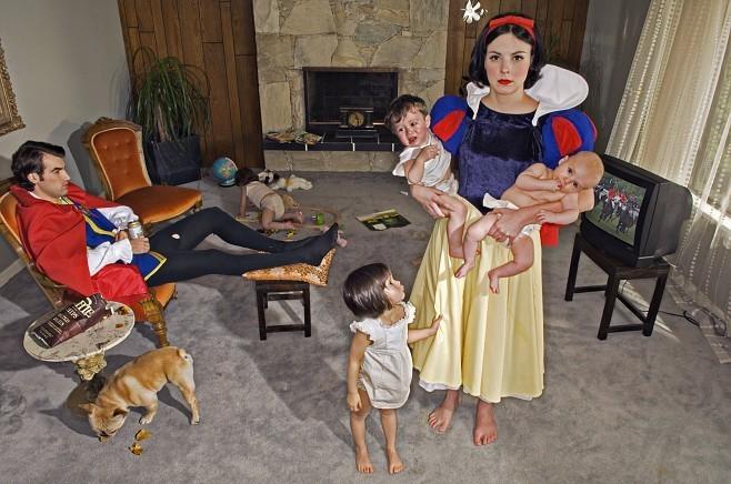 """Fallen Princesses"" by Dina Goldstein"
