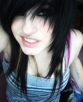 emo girls wallpaper probably with a bearskin and a portrait called [Steph]