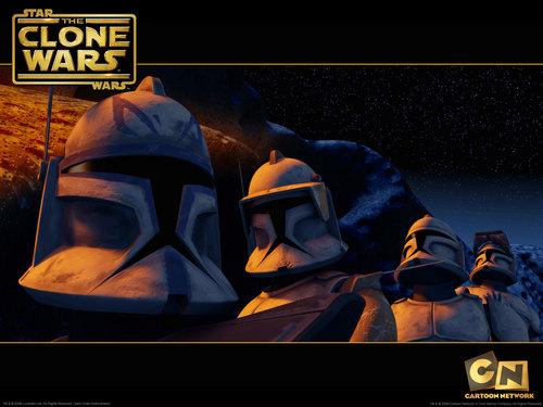 "étoile, étoile, star Wars: Clone Wars fond d'écran possibly with animé called Clone Wars ""Rookies"""