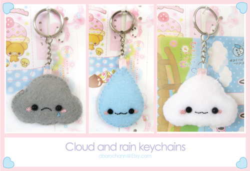 Cloud Keychains - keychains Photo