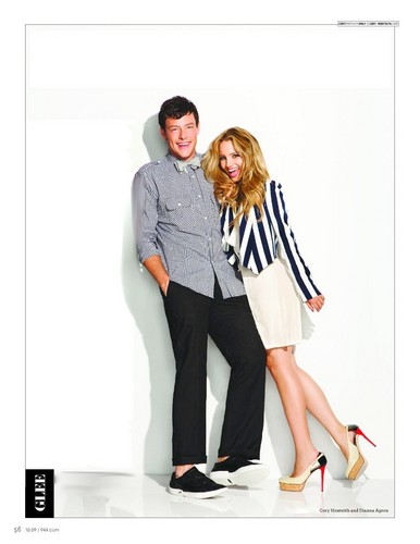 Cory and Dianna in a magazine