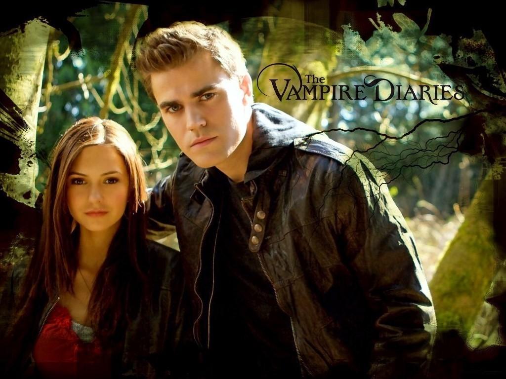 The Vampire Diaries TV Show Elena & Stefan