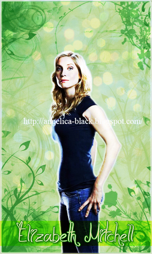 Lost wallpaper with a portrait entitled Elizabeth Mitchell
