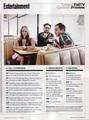 Jim/Kaley (and Johnny) EW magazine