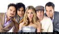 Jim/Kaley and the BBT cast on Watch magazine (Sep 2009) - jim-parsons-and-kaley-cuoco photo