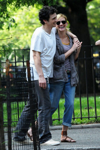 Julia and James on set in NYC
