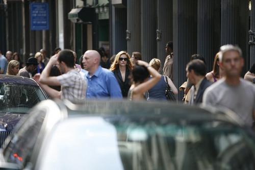 Julia filming in Tribeca NYC