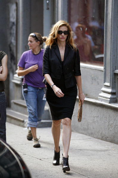 Julia filming in Tribeca NYC