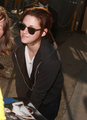 Kristen being gorgeous outside of Jimmy Kimmel Live