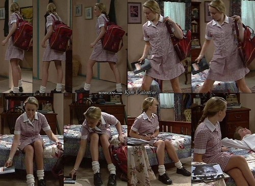Libby in school uniform