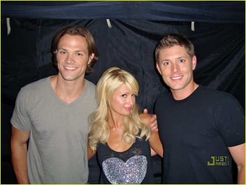 Paris Hilton on set Supernatural