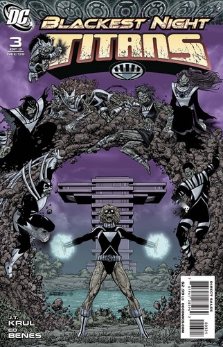 Teen Titans Original and homage (blackest night) cover