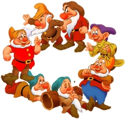 what are the names of the 7 dwarfs of snow white