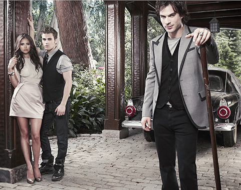 Nina Dobrev wallpaper containing a business suit and a well dressed person titled The Vampire Diaries w/ Nina