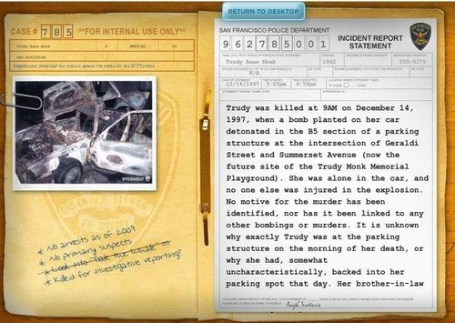 Trudy's Case File