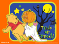 Winnie the Pooh Halloween kertas dinding
