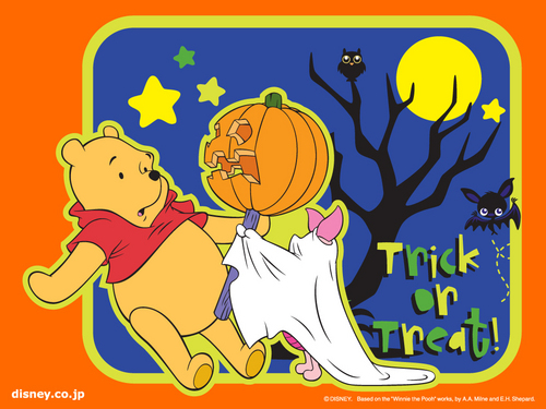Winnie the Pooh wallpaper containing Anime called Winnie the Pooh Halloween wallpaper