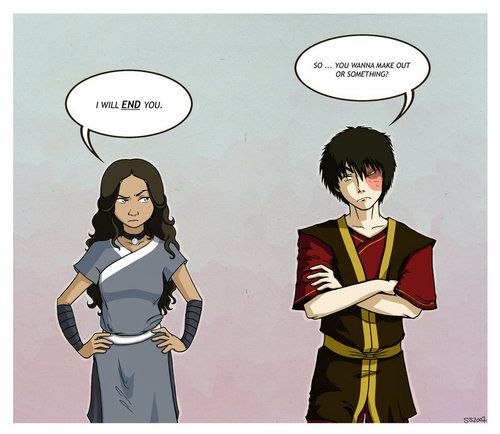 Zuko and Katara wallpaper with a bearskin called ZUTARA