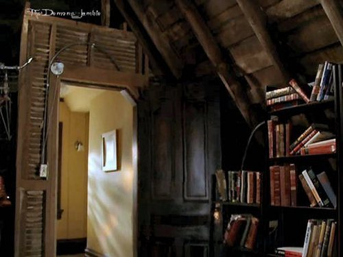 Piper Halliwell fondo de pantalla probably with a bookshop, a lectura room, and an athenaeum titled manor:the attic and basement;)