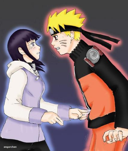 Naruto Shippuuden wallpaper containing anime titled naruto vs hinata