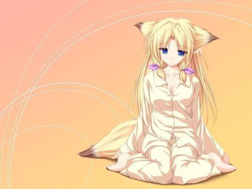 Neko anime Characters karatasi la kupamba ukuta probably with anime titled neko