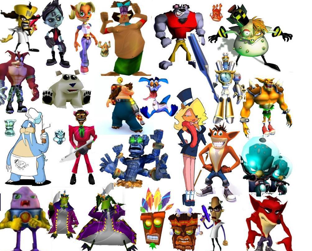 Crash Bandicoot Characters - ma