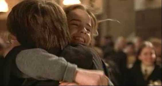 Hermione Hugging Harry Harry And Hermione Did You