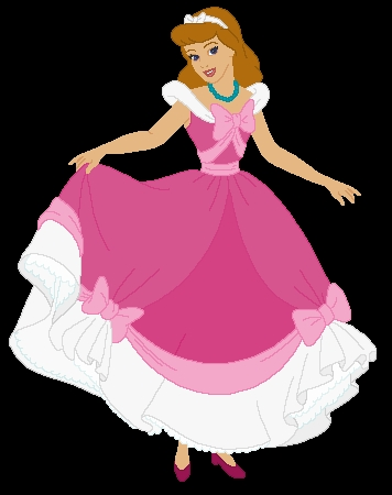 Фото золушки в розовом платье
