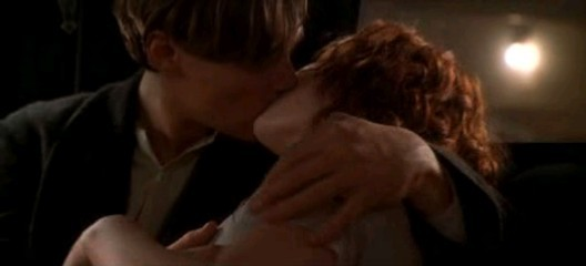 Titanic Kissing Scene Jack And Rose In Car