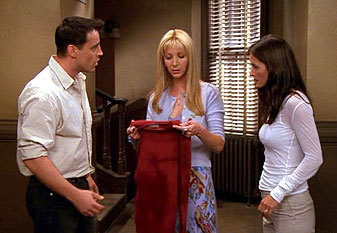 Doesn't Phoebe sweater look like Ross's red sweater?? (ross's ...