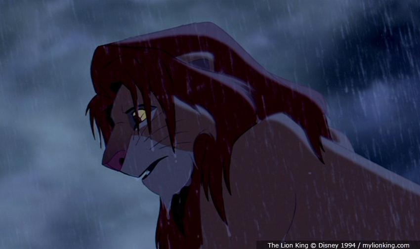 Lion king pride rock simba
