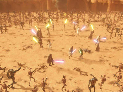 Which one of these Jedi was killed during the Battle of Geonosis?