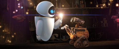 "While showing Eve around his home, what is NOT a ""treasure"" that Wall-E hands her?"