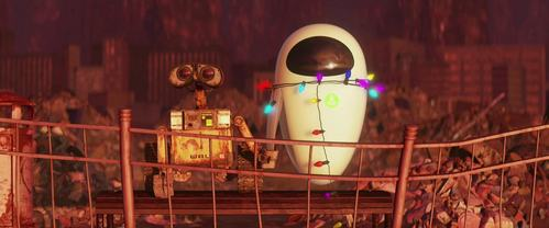 On what item does Wall-E burn his and Eve's names onto?