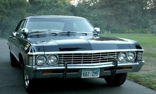 When do Ты first see the impala in the pilot?