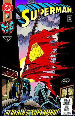 In what issue of Superman  did Superman Die?