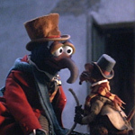 How did Charles Dickens (Gonzo) get the scar on his wrist?