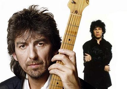 When Harrison & Gary Moore (Thin Lizzy) argued over who was better, Clapton oder Hendrix. Moore stormed out. What did Harrison shout that made Moore laugh?