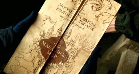 What name did Sirius Black go under on the Marauders Map?