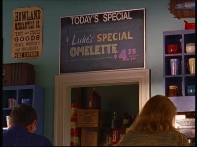 "Who is the person that wrote ""Luke's Special Omelette"" on Luke's Special Board?"