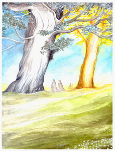 Which were the names of the two trees of Valinor?