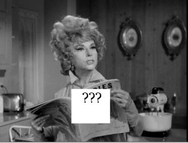 In the first few Bewitched episodes, Endora was often seen reading a magazine.