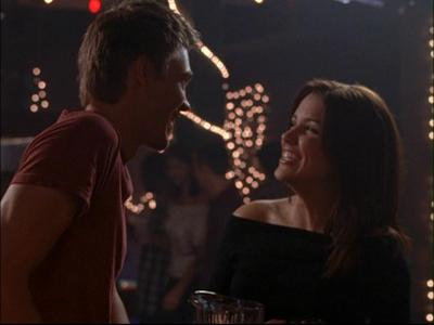 On Brucas' first date in 1xo9, what are the names on their fake I.D's?
