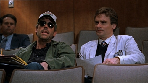 House:You`re a wuss! Don`t worry, your secret is safe with me... Hey Wilson, guess what _______ just did! Who?