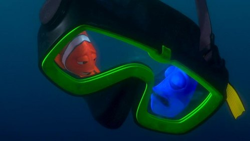 What is NOT one of the things Dory mutters while she is asleep in this scene?