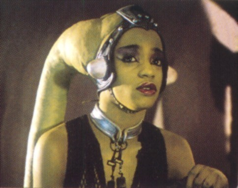 Guess who: I am a Twi'lek dancer at Jabba's palace but soon later was killed by Jabba's Rancor,Who am I?