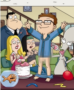 """In the American Dad! episode, """"1600 Candles"""", after Steve gets his first pube, who does he get a tanggal with?"""