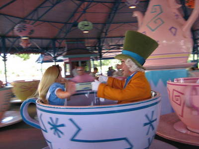 How many tea cups are there on the Mad Tea Party attraction?