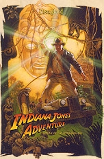 How many times do you see Indy in the Indiana Jones Adventure?
